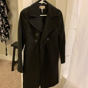 BCBG Felt Trench Coat